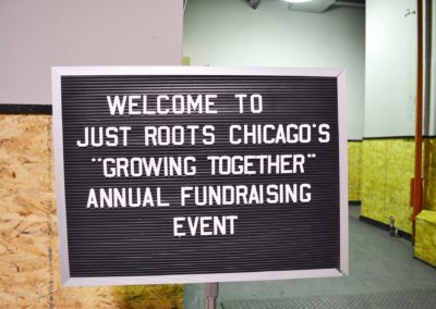 growing together fundraiser sign