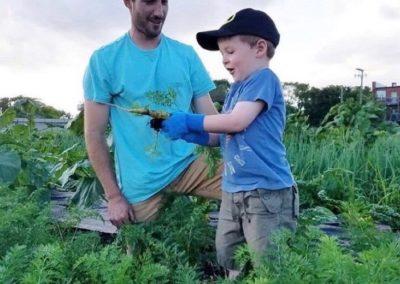 sean and boy on farm