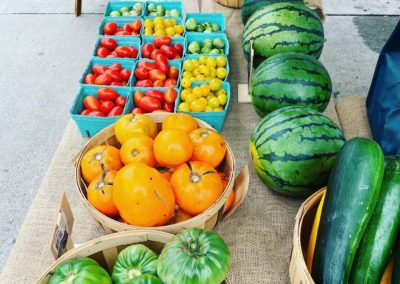 the freshest tomatoes peppers and watermelons